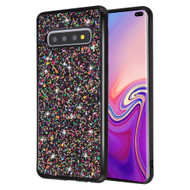Flakes Series Electroplating Glitter Case for Samsung Galaxy S10 Plus - Black