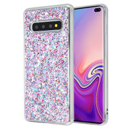 Flakes Series Electroplating Glitter Case for Samsung Galaxy S10 Plus - Purple