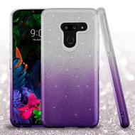 Full Glitter Hybrid Protective Case for LG G8 ThinQ - Gradient Purple