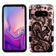 Military Grade Certified TUFF Hybrid Armor Case for Samsung Galaxy S10e - Phoenix Flower