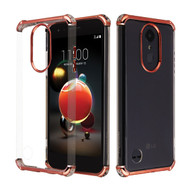 Klarion Crystal Clear Tough Case for LG Aristo 3 / Aristo 2 Plus / Fortune 2 / Tribute Empire - Rose Gold