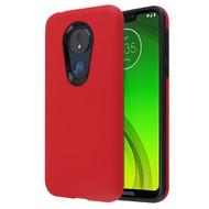*Sale* Fuse Slim Armor Hybrid Case for Motorola Moto G7 Power / G7 Supra - Red