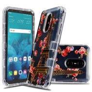 Military Grade Certified TUFF Lucid Transparent Hybrid Armor Case for LG Stylo 4 / Stylo 4 Plus - Paris