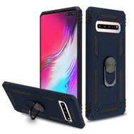 *Sale* Armor Ring Finger Loop Hybrid Case for Samsung Galaxy S10 5G - Navy Blue