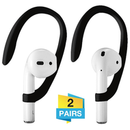 Secure Fit Ear Hooks (2 Pairs) for Apple AirPods - Black