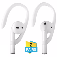 Secure Fit Ear Hooks (2 Pairs) for Apple AirPods - White