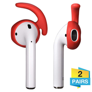 Secure Fit Silicone Ear Stabilizers (2 Pairs) for Apple AirPods - Red