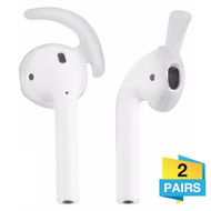 Secure Fit Silicone Ear Stabilizers (2 Pairs) for Apple AirPods - Clear