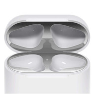 18K Gold Plating Dust-Proof Film for Apple AirPods Charging Case - Silver