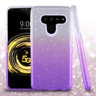 *Sale* Full Glitter Hybrid Protective Case for LG V50 ThinQ - Gradient Purple