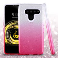 *Sale* Full Glitter Hybrid Protective Case for LG V50 ThinQ - Gradient Hot Pink
