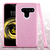 *Sale* Full Glitter Hybrid Protective Case for LG V50 ThinQ - Pink