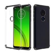*Sale* Klarion Crystal Clear Tough Case for Motorola Moto G7 Power / G7 Supra - Black