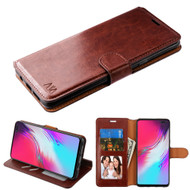 *Sale* Element Series Book-Style Leather Folio Case for Samsung Galaxy S10 5G - Brown