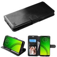 Element Series Book-Style Leather Folio Case for Motorola Moto G7 Power / G7 Supra - Black