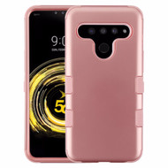 Military Grade Certified TUFF Hybrid Armor Case for LG V50 ThinQ - Rose Gold