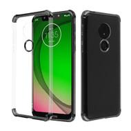 *Sale* Klarion Crystal Clear Tough Case for Motorola Moto G7 Play - Black