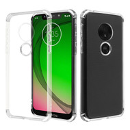 *Sale* Klarion Crystal Clear Tough Case for Motorola Moto G7 Play - Silver