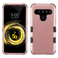 Military Grade Certified TUFF Hybrid Armor Case for LG V50 ThinQ - Rose Gold 059