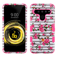 Military Grade Certified TUFF Hybrid Armor Case for LG V50 ThinQ - Pink Fresh Roses