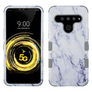 Military Grade Certified TUFF Hybrid Armor Case for LG V50 ThinQ - Marble White