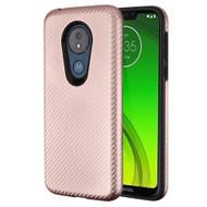 Carbon Fiber Hybrid Case for Motorola Moto G7 Power / G7 Supra - Rose Gold