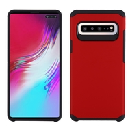 Hybrid Multi-Layer Armor Case for Samsung Galaxy S10 5G - Red