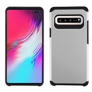 Hybrid Multi-Layer Armor Case for Samsung Galaxy S10 5G - Silver
