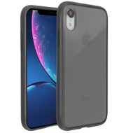Frost Semi Transparent Hybrid Case for iPhone XR - Black