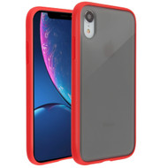 Frost Semi Transparent Hybrid Case for iPhone XR - Red