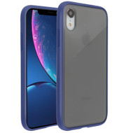 Frost Semi Transparent Hybrid Case for iPhone XR - Blue