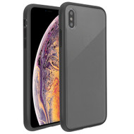Frost Semi Transparent Hybrid Case for iPhone XS Max - Black