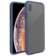 Frost Semi Transparent Hybrid Case for iPhone XS Max - Blue