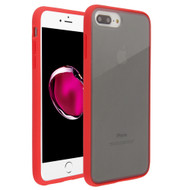 Frost Semi Transparent Hybrid Case for iPhone 8 Plus / 7 Plus / 6S Plus / 6 Plus - Red