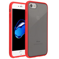 Frost Semi Transparent Hybrid Case for iPhone 8 / 7 / 6S / 6 - Red