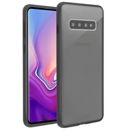 Frost Semi Transparent Hybrid Case for Samsung Galaxy S10 Plus - Black