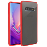 Frost Semi Transparent Hybrid Case for Samsung Galaxy S10 Plus - Red