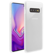 Frost Semi Transparent Hybrid Case for Samsung Galaxy S10 Plus - White
