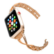 Chic Design Diamond Chain Stainless Steel Watch Band for Apple Watch 44mm / 42mm - Rose Gold