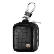 Crocodile Series Protective Leather Case for Apple AirPods - Black