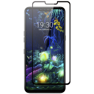 Full Coverage Premium 2.5D Round Edge HD Tempered Glass Screen Protector for LG V50 ThinQ - Black