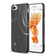 Milky Marble IMD Soft TPU Case for iPhone 8 Plus / 7 Plus - Black