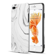 Milky Marble IMD Soft TPU Case for iPhone 8 Plus / 7 Plus - White