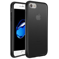 Frost Semi Transparent Hybrid Case for iPhone 8 / 7 / 6S / 6 - Black