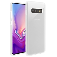 Frost Semi Transparent Hybrid Case for Samsung Galaxy S10 - White