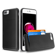 Stash Credit Card Hybrid Armor Case for iPhone 8 Plus / 7 Plus / 6S Plus / 6 Plus - Black