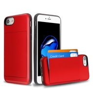 Stash Credit Card Hybrid Armor Case for iPhone 8 / 7 / 6S / 6 - Red