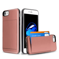 Stash Credit Card Hybrid Armor Case for iPhone 8 / 7 / 6S / 6 - Rose Gold