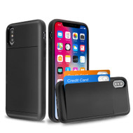 Stash Credit Card Hybrid Armor Case for iPhone XS / X - Black
