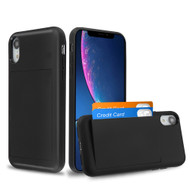 Stash Credit Card Hybrid Armor Case for iPhone XR - Black